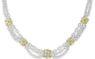 Stambolian Two-Tone Gold and Diamond Link Chain