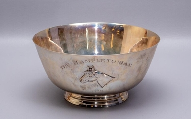 Sterling Silver footed horse trophy bowl