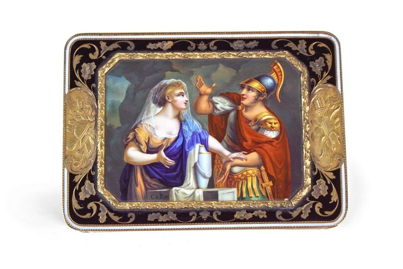 Swiss Gold and Enamel Box
