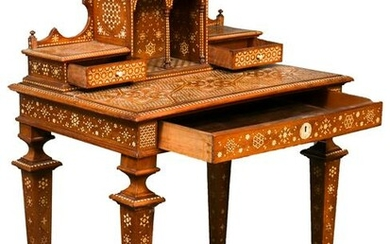 Syrian Bone Inlaid Desk, 19th Century