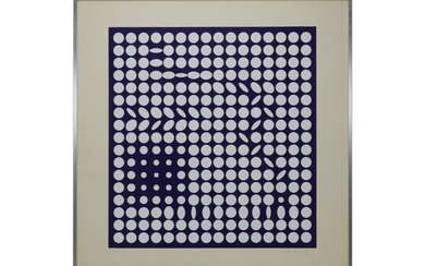 Victor VASARELY (1906-1997) Composition. Sérigraph…
