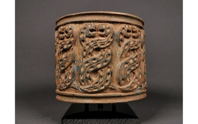 WESTERN ASIATIC STONE VESSEL WITH SNAKES