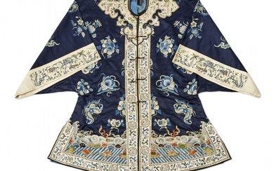 Women's embroidered silk robe China, Qing dynasty, 19th Century