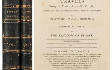 YOUNG, Arthur (1741–1820). Travels During the Years
