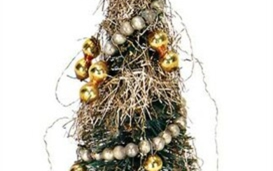 dollhouse christmas tree with leonic wires, green
