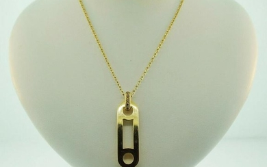 18K YELLOW GOLD & DIAMOND PENDANT BY ROBERTO COIN