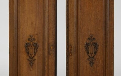 (2) 19th c. French carved oak architectural panels