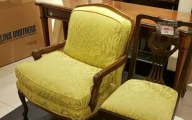 3 assorted chairs; Chippendale upholstery Chair