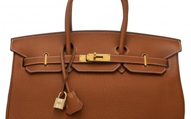 58049: Hermès 35cm Gold Togo Leather Birkin Bag