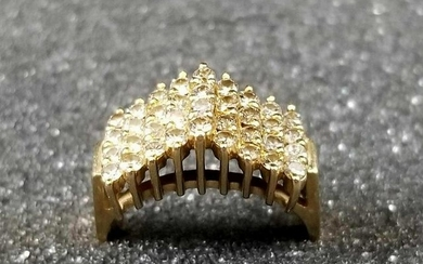 14K Gold Cathedral Style Ring Size 6