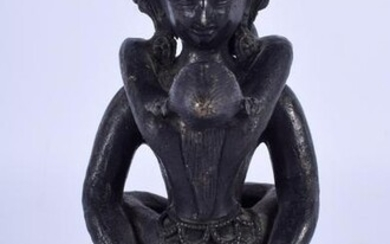 A 19TH CENTURY CHINESE BRONZE EROTIC FIGURE OF