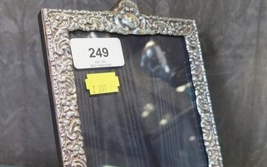 A 999 silver photo frame, with decorative cast border, Londo...