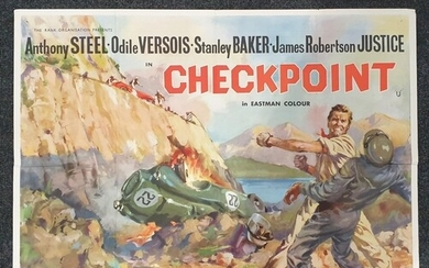 A Checkpoint (1956) British Quad film poster, artwork by Ang...