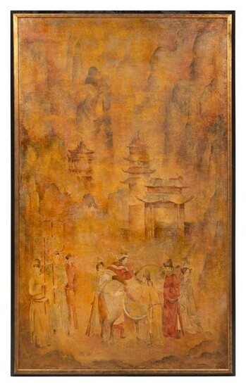 A Chinese Style Painting 69 1/2 x 41 inches.