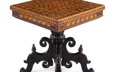 A Continental Parquetry Occasional Table