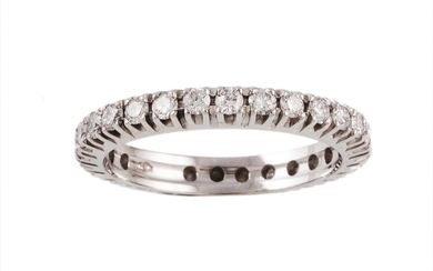 A DIAMOND FULL ETERNITY RING, with diamonds of 1.00ct in tot...