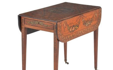 A George III satinwood Pembroke table
