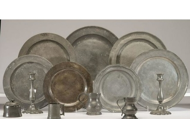 A Group of Pewter Table Wares