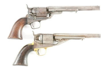 (A) LOT OF TWO: TWO COLT 1861 NAVY CONVERSIONS TO