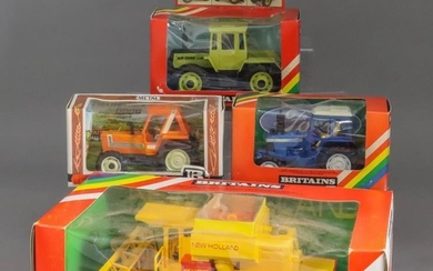 A Small Collection of Britain's Model Tractors and Agricultural...
