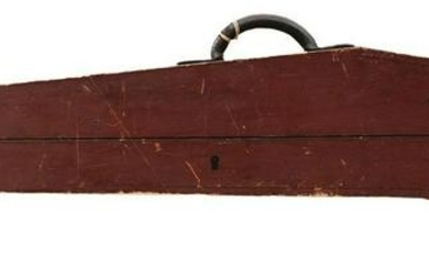 A WESTLEY RICHARDS STORAGE CASE FOR A RIFLE, the plain