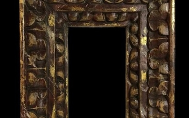 A frame made in the style of the Spanish baroque - Gilt, Wood - 19th century