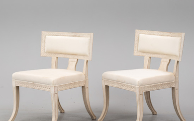 A pair of chairs, 21st century.