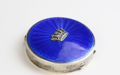 A silver and enamel compact, Turner & Simpson, Birmingham 19...