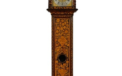 A walnut marquetry longcase clock, William Cooper, Colchester, movement and case associated