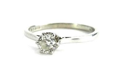 An 18ct white gold diamond solitaire ring, with round...