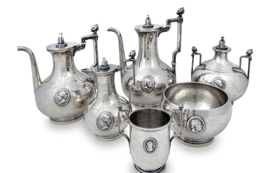 An American Silver Neoclassical Style Tea Set