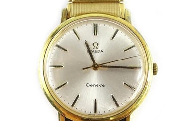 An Omega Geneve gentleman's wristwatch, with circular silver...