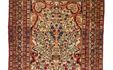 Antique Ravar Kirman 214 X 143 cm
