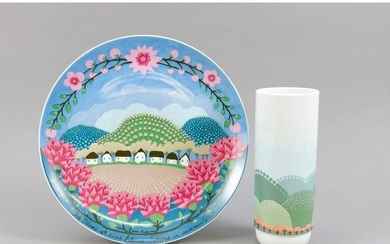 Artist plate and vase, Ro