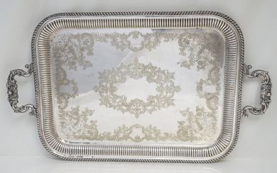 BARKER BROTHERS ENGLISH SILVERPLATE SERVING TRAY