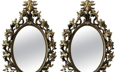 Baroque Style Carved Mirrors 20th Century