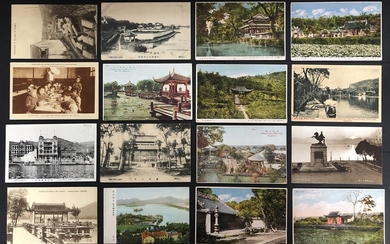 Postcard China 1930-1940s a group of 14 postcards from Hangzhou West Lake and 2 postcards from...