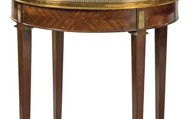 Boulloite Louis XVI style table in mahogany wood with