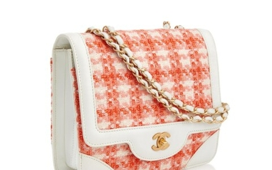 CHANEL | TWEED AND LEATHER SQUARE FLAP BAG