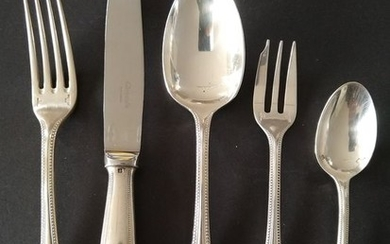 CHRISTOFLE - wonderful 28-piece, silver plated cutlery - Silver plated silver