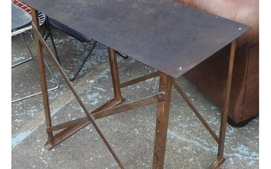 CONSOLE TABLE, metal mid 20th century Belgian industrial, 82...