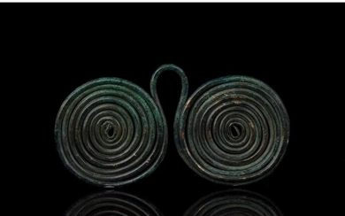 BRONZE AGE SPECTACLE COILED PENDANT