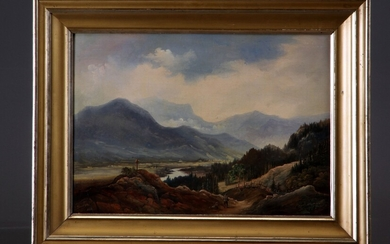 Carl Anton Saabye. Oil on canvas, section from Tyrol