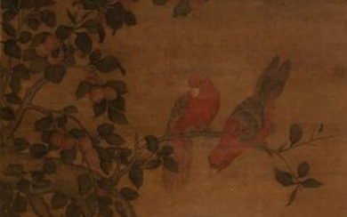 Chinese Painting of Birds on Tree attr. Ma Yuan