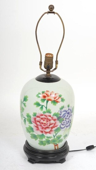 Chinese Porcelain Ginger Jar Lamp
