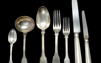 Collection of English Sterling Silver Shell and Fiddle