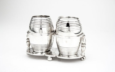 Condiment set - .925 silver - George Fox - U.K. - 1877
