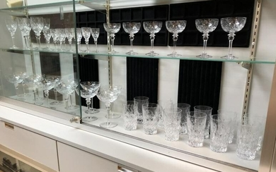 ESTATE COLLECTION OF NEVER USED OLDER CUT CRYSTAL