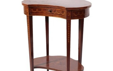 Edwards & Roberts: An Edwardian Mahogany, Marquetry Inlaid and Rosewood...