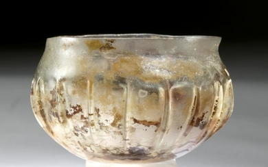 Exceptional Roman Glass Ribbed Cup